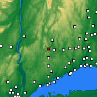 Nearby Forecast Locations - New Fairfield - Map