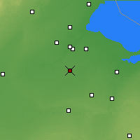 Nearby Forecast Locations - Bowling Green - Map
