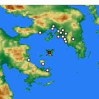 Nearby Forecast Locations - Aegina - Map