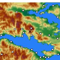 Nearby Forecast Locations - Arachova - Map