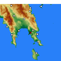 Nearby Forecast Locations - Asopos - Map