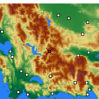Nearby Forecast Locations - Karpenisi - Map