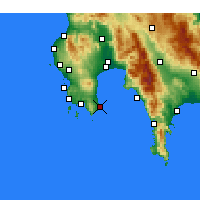 Nearby Forecast Locations - Koroni - Map