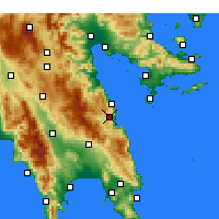 Nearby Forecast Locations - Leonidio - Map