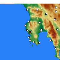 Nearby Forecast Locations - Nestoras - Map