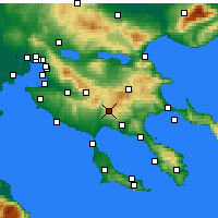 Nearby Forecast Locations - Polygyros - Map