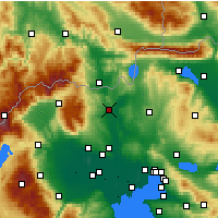 Nearby Forecast Locations - Polykastro - Map