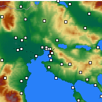 Nearby Forecast Locations - Triandria - Map