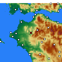 Nearby Forecast Locations - Tritaia - Map