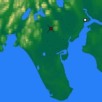 Nearby Forecast Locations - Manokotak - Map