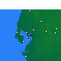 Nearby Forecast Locations - Davis Islands - Map