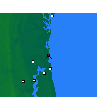 Nearby Forecast Locations - Fernandina Beach - Map