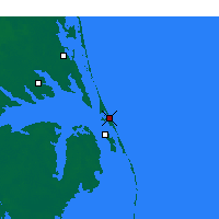 Nearby Forecast Locations - Kill Devil Hills - Map