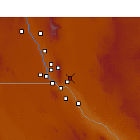 Nearby Forecast Locations - Fort Bliss - Map