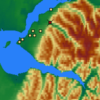 Nearby Forecast Locations - Eagle River - Map