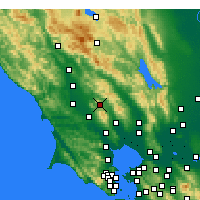 Nearby Forecast Locations - Santa Rosa - Map