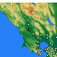 Nearby Forecast Locations - Sebastopol - Map