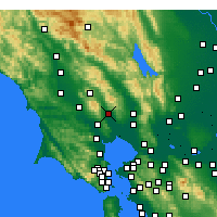 Nearby Forecast Locations - Sonoma - Map