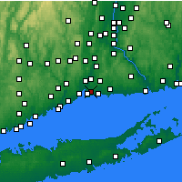 Nearby Forecast Locations - East Haven - Map