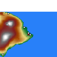 Nearby Forecast Locations - Hilo - Map