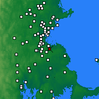 Nearby Forecast Locations - Braintree - Map