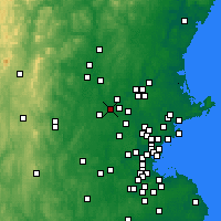 Nearby Forecast Locations - Chelmsford - Map