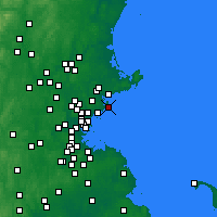 Nearby Forecast Locations - Marblehead - Map