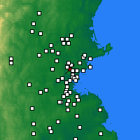 Nearby Forecast Locations - Stoneham - Map