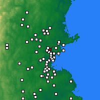 Nearby Forecast Locations - Wakefield - Map