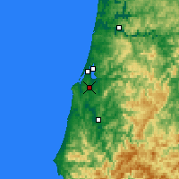 Nearby Forecast Locations - Coos Bay - Map