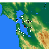 Nearby Forecast Locations - Alameda - Map