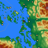 Nearby Forecast Locations - Anacortes - Map
