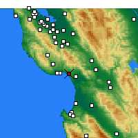 Nearby Forecast Locations - Aptos - Map