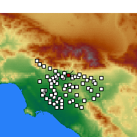 Nearby Forecast Locations - Azusa - Map