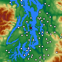 Nearby Forecast Locations - Bainbridge - Map