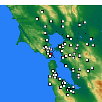 Nearby Forecast Locations - Belvedere Tiburon - Map