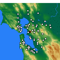 Nearby Forecast Locations - Berkeley - Map
