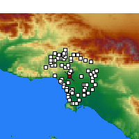 Nearby Forecast Locations - Beverly Hills - Map