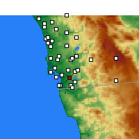 Nearby Forecast Locations - Bonita - Map