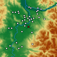 Nearby Forecast Locations - Canby - Map
