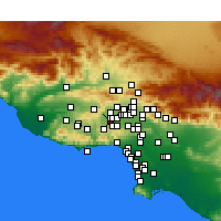 Nearby Forecast Locations - Canoga Park - Map