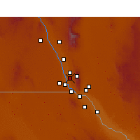 Nearby Forecast Locations - Canutillo - Map