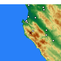 Nearby Forecast Locations - Carmel-by-the-Sea - Map
