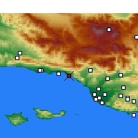 Nearby Forecast Locations - Carpinteria - Map