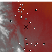 Nearby Forecast Locations - Castle Rock - Map