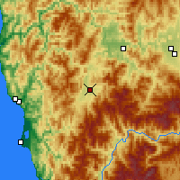 Nearby Forecast Locations - Cave Junction - Map