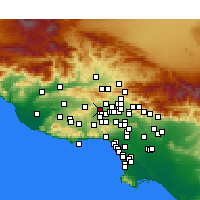 Nearby Forecast Locations - Chatsworth - Map
