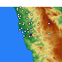 Nearby Forecast Locations - Chula Vista - Map
