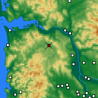Nearby Forecast Locations - Clatskanie - Map