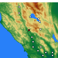 Nearby Forecast Locations - Cloverdale - Map